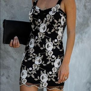VICI Embroidered Bodycon Dress